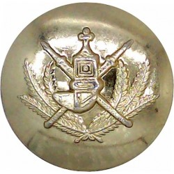Dewsbury County Borough Police 17.5mm - 1952-1968 with Queen Elizabeth's Crown. Chrome-plated Police or Prisons uniform button