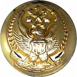 Abu Dhabi Defence Force (Hawk With Stars) 17.5mm - Screw-Fit  Gilt Military uniform button