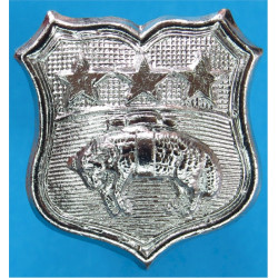 York And North East Yorkshire Police Collar Badge 1968-74  Chrome-plated UK Police or Prison insignia