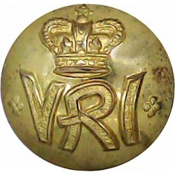 South African Constabulary (this Wording On Scrolls) 19.5mm with King's Crown. Brass Police or Prisons uniform button
