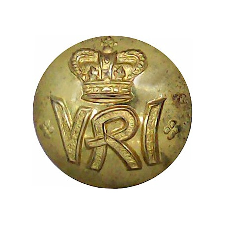 South African Constabulary (this Wording On Scrolls) 19.5mm - 1902-1908 with King's Crown. Brass Police or Prisons uniform butto