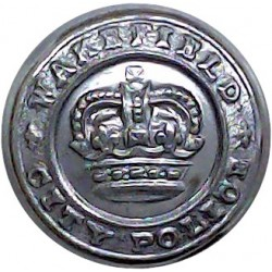 Wakefield City Police 17.5mm - 1952-1968 with Queen Elizabeth's Crown. Chrome-plated Police or Prisons uniform button
