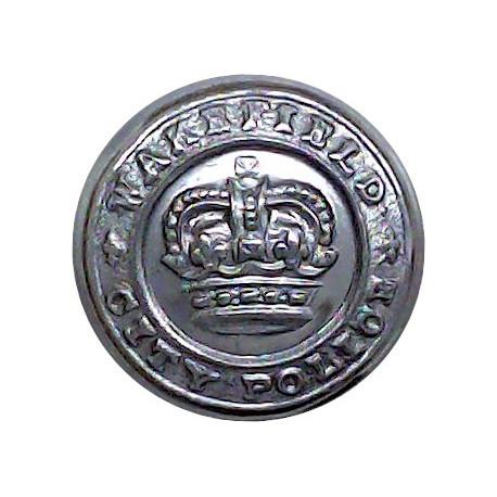 Birmingham City Police - Black 28.5mm - Pre-1974  Horn Police or Prisons uniform button