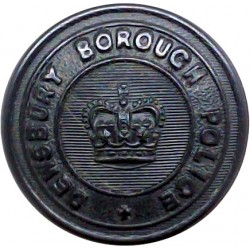 Bedfordshire Constabulary 24.5mm - 1952-1966 Queen's Crown. Chrome-plated Police or Prisons uniform button