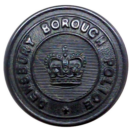 Bedfordshire Constabulary 24.5mm - 1952-1966 with Queen Elizabeth's Crown. Chrome-plated Police or Prisons uniform button