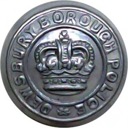 Bedfordshire & Luton Constabulary 17.5mm - 1966-1974 Queen's Crown. Chrome-plated Police or Prisons uniform button