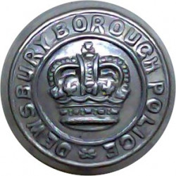Bedfordshire & Luton Constabulary 17.5mm - 1966-1974 with Queen Elizabeth's Crown. Chrome-plated Police or Prisons uniform butto
