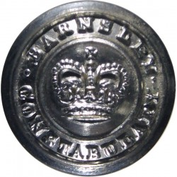 Barnsley County Borough Police 17.5mm - 1952-1968 with Queen Elizabeth's Crown. Chrome-plated Police or Prisons uniform button