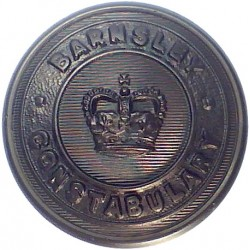 Barnsley County Borough Police - Black 25.5mm - 1952-1968 with Queen Elizabeth's Crown. Horn Police or Prisons uniform button