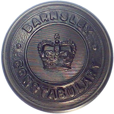 Buckinghamshire Constabulary 24mm - 1952-1968 with Queen Elizabeth's Crown. Chrome-plated Police or Prisons uniform button