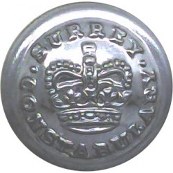 Cornwall Constabulary 25mm - 1902-1952 with King's Crown. Chrome-plated Police or Prisons uniform button