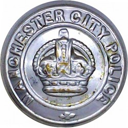 Devon Constabulary 17mm - 1952-1966 with Queen Elizabeth's Crown. Chrome-plated Police or Prisons uniform button