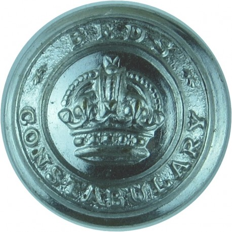 Bedfordshire Constabulary 17.5mm with King's Crown. Chrome-plated Police or Prisons uniform button