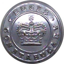 British Colonial Police - Crossed Truncheons 21.5mm Queen's Crown. Chrome-plated Police or Prisons uniform button