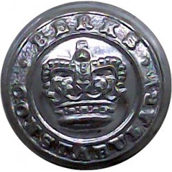Federation Of Malaya Police - Hallmarked 1948 16.5mm Silver Police or Prisons uniform button