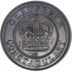 Glamorganshire Constabulary (Wales) 26mm - 1952-1969 with Queen Elizabeth's Crown. Chrome-plated Police or Prisons uniform butto