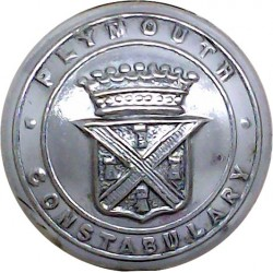Plymouth Constabulary 24mm - Pre-1967  Chrome-plated Police or Prisons uniform button