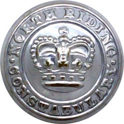 York And North East Yorkshire Police 17.5mm - 1968-1974 Chrome-plated Police or Prisons uniform button