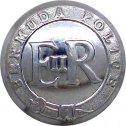 Bermuda Police - EiiR 25mm  Chrome-plated Police or Prisons uniform button