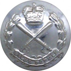 British Transport Police 23mm - Unlined with Queen Elizabeth's Crown. Chrome-plated Police or Prisons uniform button