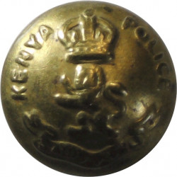 British South Africa Police - 1953-1965 19mm - Gold Colour with Queen Elizabeth's Crown. Anodised Police or Prisons uniform butt