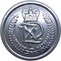 New Zealand Police 19mm with Queen Elizabeth's Crown. Chrome-plated Police or Prisons uniform button