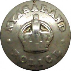 Somerset Constabulary 24mm with King's Crown. Chrome-plated Police or Prisons uniform button
