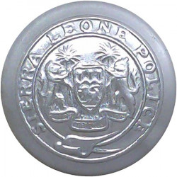 Sierra Leone Police 24mm  Chrome-plated Police or Prisons uniform button