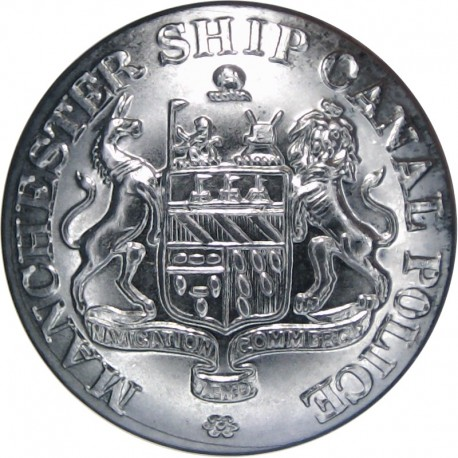 Manchester Ship Canal Police 25.5mm  Chrome-plated Police or Prisons uniform button
