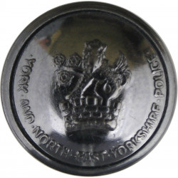 West Riding Of Yorkshire Constabulary - Black 25mm - Pre-1968 Horn Police or Prisons uniform button