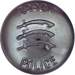 Halifax County Borough Police - Black 17mm - 1952-1968 with Queen Elizabeth's Crown. Horn Police or Prisons uniform button