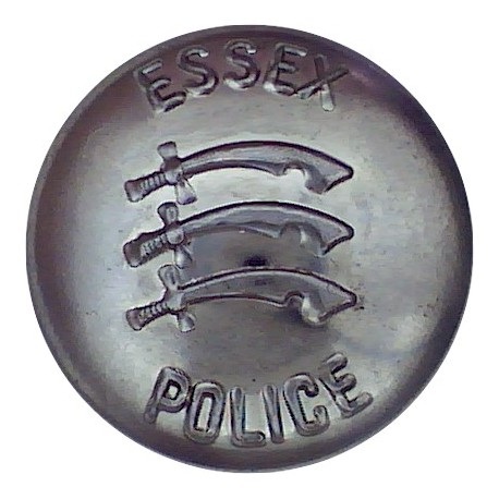 Essex Police 24mm - Post-1974  Chrome-plated Police or Prisons uniform button