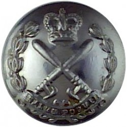 Worcestershire Constabulary - Black 24.5mm - 1952-1967 with Queen Elizabeth's Crown. Horn Police or Prisons uniform button