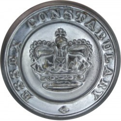 Essex Constabulary 24mm - 1952-1969 with Queen Elizabeth's Crown. Chrome-plated Police or Prisons uniform button