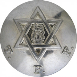 Trinidad Police Force 20mm with King's Crown. Silver-plated Police or Prisons uniform button