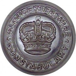 Shropshire Constabulary 24.5mm - 1952-1967 with Queen Elizabeth's Crown. Chrome-plated Police or Prisons uniform button