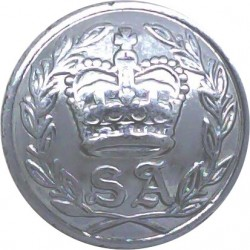 Australia: South Australia Police Force 23mm with Queen Elizabeth's Crown. Chrome-plated Police or Prisons uniform button