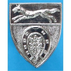 Leicestershire & Rutland Constabulary Collar Badge Pre-74  Chrome-plated UK Police or Prison insignia