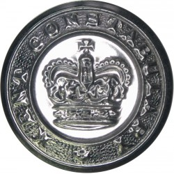 British Transport Commission Police 16.5mm - 1948-1952 with King's Crown. Chrome-plated Police or Prisons uniform button