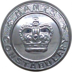 Hampshire Constabulary 24mm - Post-1952 with Queen Elizabeth's Crown. Chrome-plated Police or Prisons uniform button
