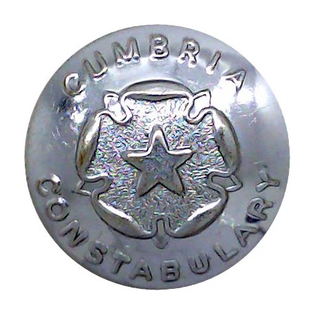 Essex Constabulary 24mm - Pre-1952 with King's Crown. Chrome-plated Police or Prisons uniform button