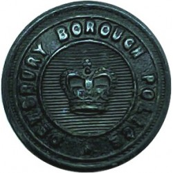 Dewsbury County Borough Police - Black 17mm - 1952-1968 with Queen Elizabeth's Crown. Horn Police or Prisons uniform button