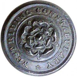 West Riding Of Yorkshire Constabulary - Black 19.5mm - Pre-1968  Horn Police or Prisons uniform button