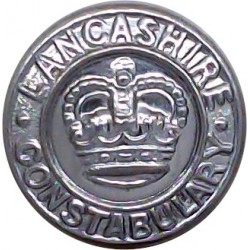 Lancashire Constabulary 17mm - Post-1952 with Queen Elizabeth's Crown. Chrome-plated Police or Prisons uniform button