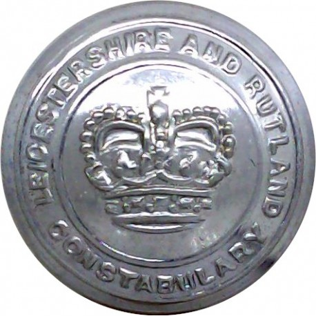 Sussex Constabulary 17mm - 1968-1973 with Queen Elizabeth's Crown. Chrome-plated Police or Prisons uniform button