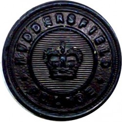 Huddersfield County Borough Police - Black 17.5mm - 1952-1968 with Queen Elizabeth's Crown. Horn Police or Prisons uniform butto