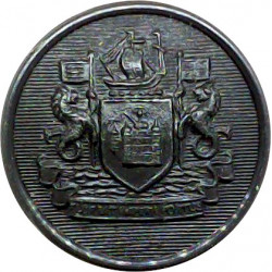 Birkenhead County Borough Police 24.5mm - Pre-1967 Chrome-plated Police or Prisons uniform button