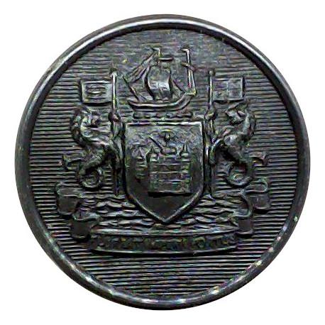 Birkenhead County Borough Police 24.5mm - Pre-1967  Chrome-plated Police or Prisons uniform button