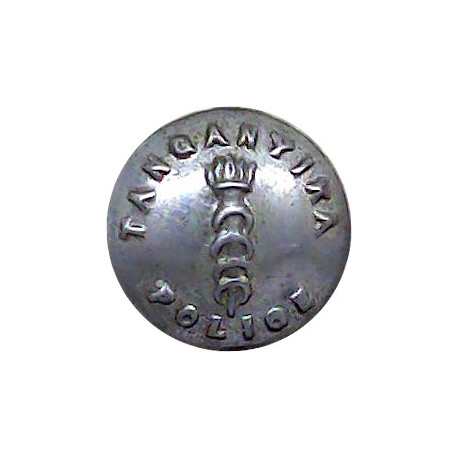 Her Majesty's Prisons - Crown Pattern 24.5mm with Queen Elizabeth's Crown. Chrome-plated Police or Prisons uniform button