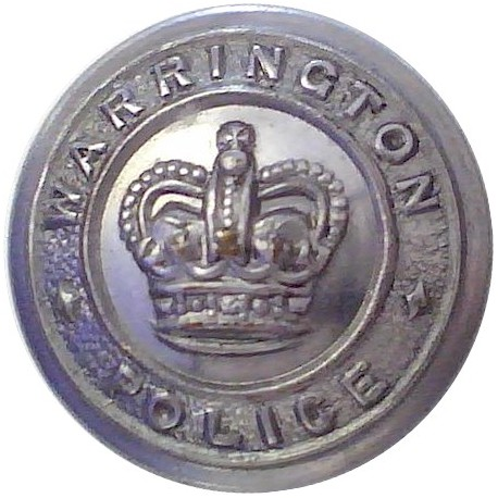 Indian Police 15.5mm - Pre-1947 with King's Crown. Silver-plated Police or Prisons uniform button